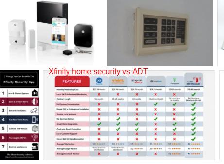 Xfinity home security vs ADT